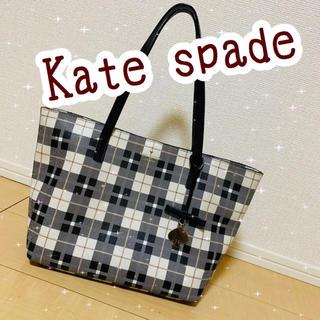 ケイトスペードニューヨーク(kate spade new york)のケイトスペード チェックバック(トートバッグ)