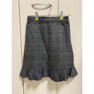 ティティアンドコー(titty&co)のヘムフレアチェックスカート(ひざ丈スカート)