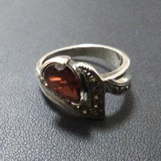Maison Martin Margiela - Silver925 Garnet&Marcasite Ring
