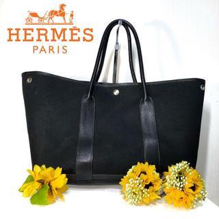 エルメス(Hermes)の【⭐️コスパ⭐️】 エルメス ガーデンパーティPM ブラック トートバッグ(トートバッグ)