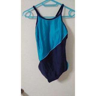 (KM-10) ユニチカ 女子紺色競泳水着 (L) サイズ パッド入り