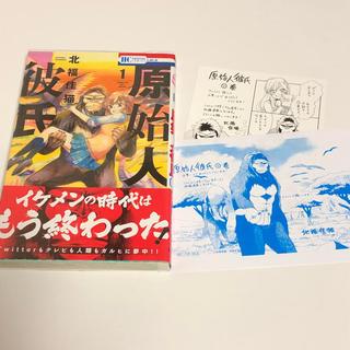 ハクセンシャ(白泉社)の特典付き☆ 原始人彼氏 1巻(少女漫画)