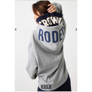 RODEO CROWNS WIDE BOWL - OVER LAP W HOOD パーカー グレー