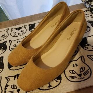ハニーズ(HONEYS)のローヒール パンプス 24.5cm LL マスタードイエロー 美品 黄色(ハイヒール/パンプス)