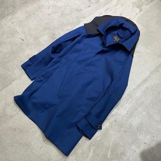 TOMORROWLAND - トゥモローランド ブルー ワーク ボンディング ステンカラー コート M