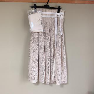 Lily Brown - 《タグ付き新品未使用》フロッキーラップ風スカートパンツ