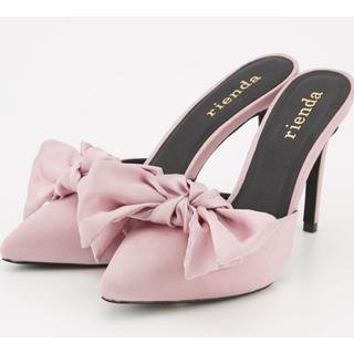 rienda - 新品リエンダ リボンミュール ピンク