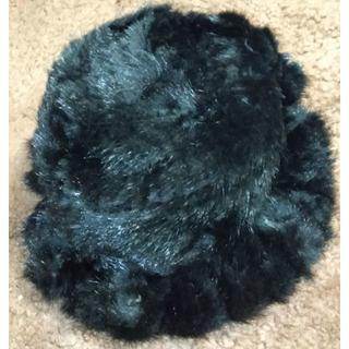 新品 ミンク帽子 ブラック フリーサイズ
