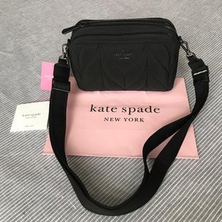 kate spade new york - ケイトスペード  新品 ブラック ショルダー キルト バッグ