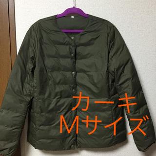 MUJI (無印良品) - 無印 ポケッタブルダウン カーキ Mサイズ