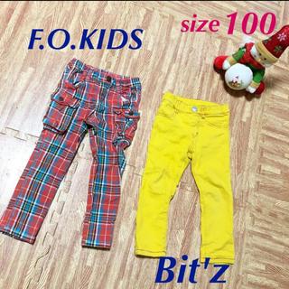 ビッツ(Bit'z)のFOKIDS Bitz パンツ 2本セット 100(パンツ/スパッツ)
