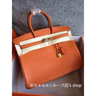 エルメス(Hermes)のエルメス王道カラーオレンジバーキン40(ビジネスバッグ)