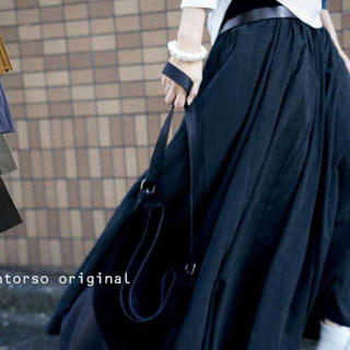 antiqua - ロングスカート 黒