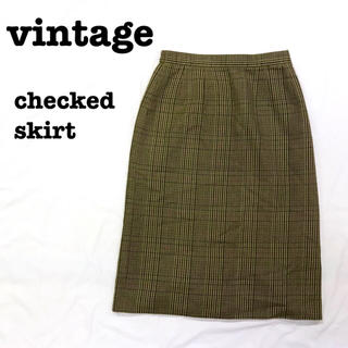ロキエ(Lochie)の美品【 vintage 】 レトロスカート グレンチェックスカート ロング(ロングスカート)