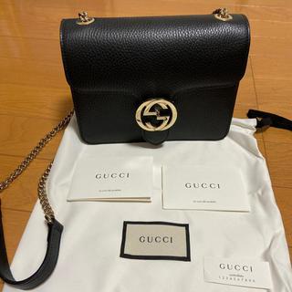 Gucci - Gucci ショルダーバック 黒 美品