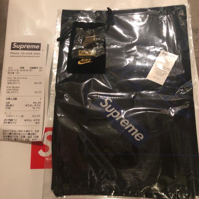 Supreme(シュプリーム)のsupreme x nike バンダナ 黒 dunk sb  メンズのアクセサリー(リング(指輪))の商品写真