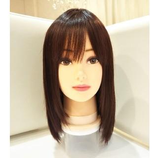 レミー人毛100%フルウィッグ横流し前髪✨艶髪✨指原莉乃ちゃん❣️美人ロング✨