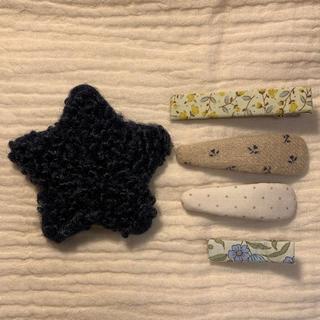 キャラメルベビー&チャイルド(Caramel baby&child )のハンドメイド ヘアピン  パッチンピン  セットF(ファッション雑貨)