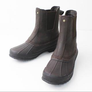 UGG - UGG アグ 防水 サイドゴア レザー ブーツ 25/ダークブラウン