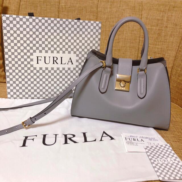 Furla(フルラ)のFURLA ミニバッグ MILANO S TOTE 2wayハンドバッグ 美品 レディースのバッグ(ハンドバッグ)の商品写真