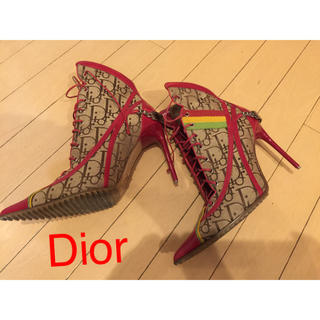 クリスチャンディオール(Christian Dior)のDior ロゴ レースアップ ブーツ(ブーツ)