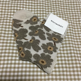 marimekko - マリメッコ☆ウール靴下*アイボリー