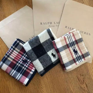 Ralph Lauren - ラルフローレン  タオルハンカチ 3枚