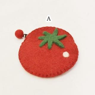 merlot - 【Fillil/フィリル】とれたて♪フルーツ型フェルトポーチ A トマト