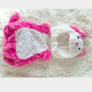 コストコ - コストコ クリスマス 70サイズ ピンクねこ コスチューム 猫