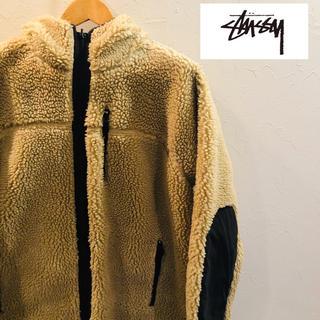 【人気商品】stussy   ボア フリースリバーシブルジャケット Mサイズ