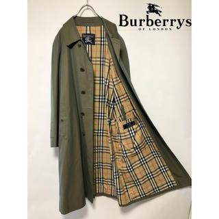 BURBERRY - 美品 ヴィンテージ バーバリー バルマカーン コート カーキ 玉虫 Aライン