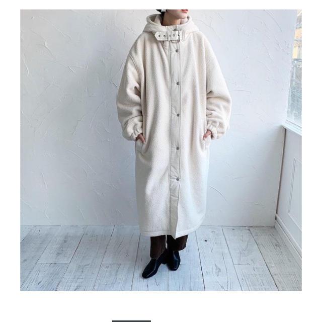 mystic(ミスティック)の即完売!最終値下げ neam ボア ロングコート レディースのジャケット/アウター(ロングコート)の商品写真