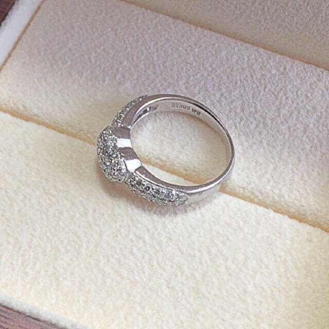 PonteVecchio(ポンテヴェキオ)の値下げ!0.65ctポンテヴェキオ  ハートパヴェ  リング レディースのアクセサリー(リング(指輪))の商品写真