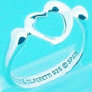 ティファニー(Tiffany & Co.)の☆新品☆未使用☆ティファニー センターオープンハートリング8号(リング(指輪))