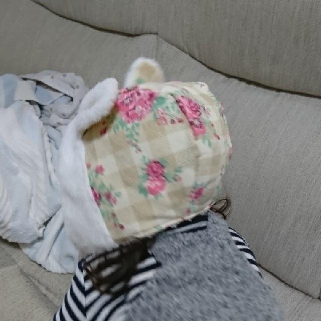 Nishiki Baby(ニシキベビー)の未使用☆ 裏地ボア素材  うさ耳  防寒  帽子 キッズ/ベビー/マタニティのこども用ファッション小物(帽子)の商品写真