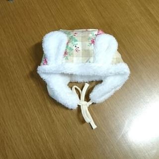 Nishiki Baby - 未使用☆ 裏地ボア素材  うさ耳  防寒  帽子