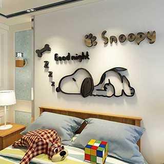 80*41スヌーピー ウォールステッカー 子供用 居間 寝室 幼稚園児 壁イラス