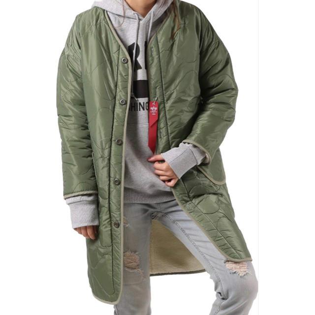 SHIPS(シップス)のシップス×ALPHA別注ボアリバーシブルコート レディースのジャケット/アウター(ノーカラージャケット)の商品写真