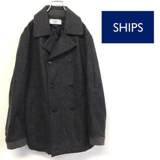 シップス(SHIPS)の美品 SHIPS ピーコート グレー Mサイズ(ピーコート)