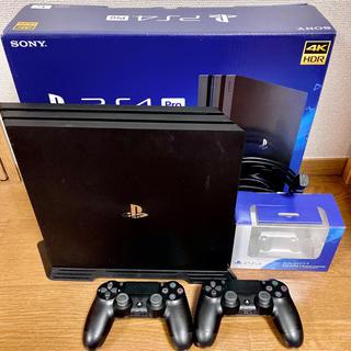 PlayStation4 - PS4 pro 1TB コントローラ2台 スタンド付