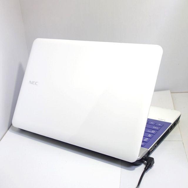 NEC(エヌイーシー)の優しかわいい♪高性能で動作〇♪最新Win10♪すぐ使えます♪ノートパソコン スマホ/家電/カメラのPC/タブレット(ノートPC)の商品写真