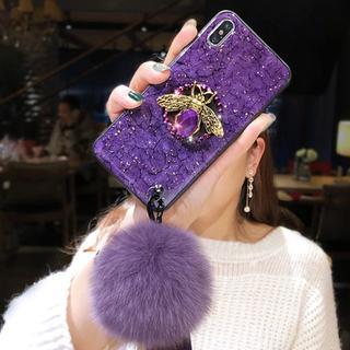 Gucci - 💛キラキラ 蜂マーク iPhone ケース💛パープル💛