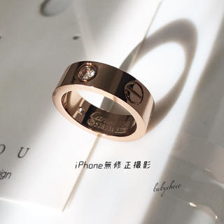 ✨高品質✨レディースステンレスリング ピンクゴールド (リング(指輪))