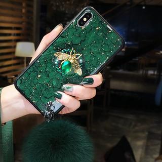 Gucci - 💛キラキラ 蜂マーク iPhone ケース💛グリーン💛