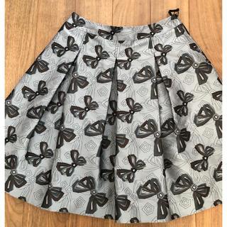 M'S GRACY - エムズグレーシー(7)リボン柄スカート 40 サイズ 美品