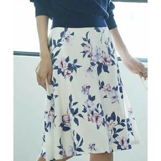 デビュードフィオレ(Debut de Fiore)の新品タグ付き Debut de Fiore 花柄スカート(ひざ丈スカート)