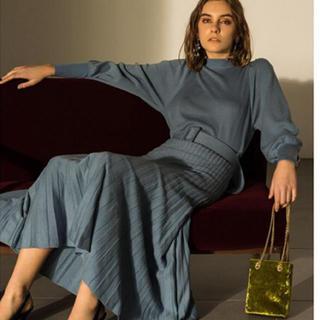 Mila Owen - ミラオーウェン  パフスリーブプリーツスカート セットアップ