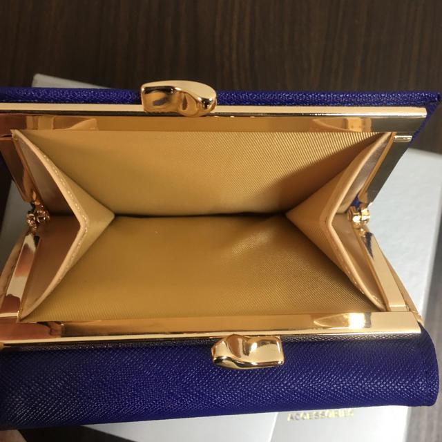 Vivienne Westwood(ヴィヴィアンウエストウッド)の【未使用】Vivienne Westwood おしゃれ三つ折りがま口財布Blue レディースのファッション小物(財布)の商品写真