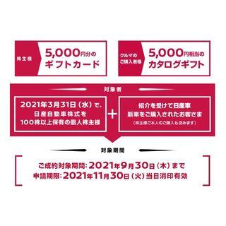 日産自動車紹介制度特典(更新)(その他)