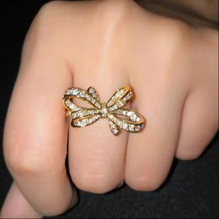 【SALE】  ribbon ring18KGPリング(リング(指輪))